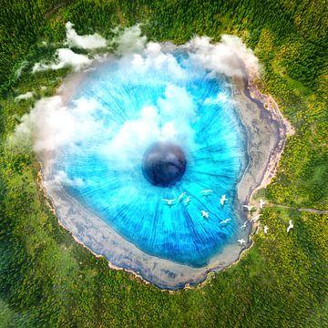 Droomkunst XX - Surreal Eye Lake van Art Design Works