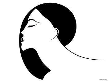 Kuss in der Luft - Schwarz-Weiß von Ton van Hummel (Alias HUVANTO)