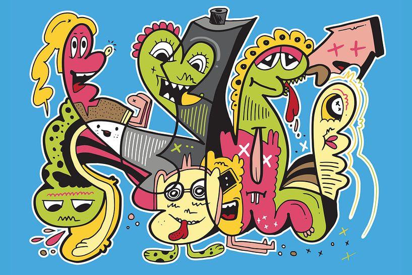 Graffiti Pop Art van Koen Haarbosch