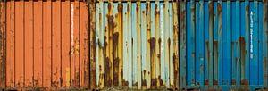 Seecontainer mit Rost von Peter Bolman