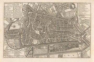 Karte der Stadt Utrecht, 1758 - nach 1780