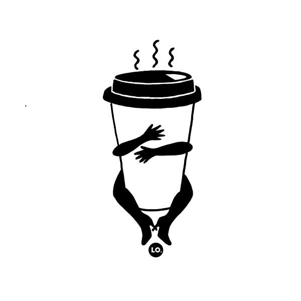 Coffee to go cup van Lola Vogels