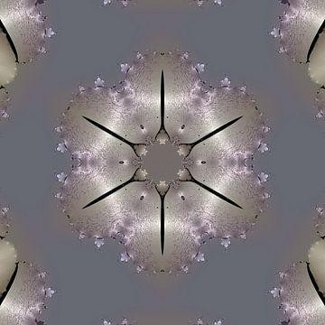 Zilveren mandala van Nina IoKa