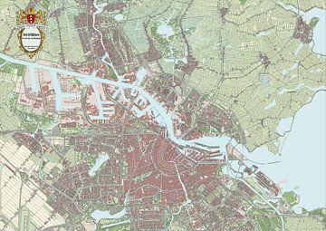 Kaart van Amsterdam van Rebel Ontwerp