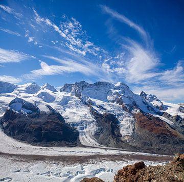 Breithorn, Gornergletscher, Gornergrat, View, Zermatt, Wallis,Zwitserland van Torsten Krüger