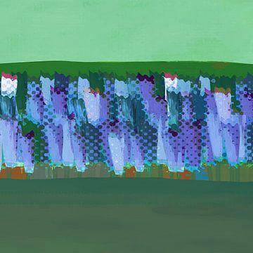 Lisse blauwgrijs op groen van Joost Hogervorst