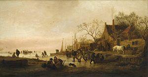 Winterunterhaltung an einem Fluss, Isaack Jansz van Ostade