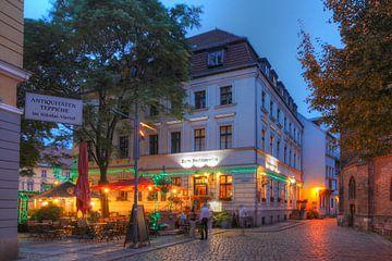 Nikolai-wijk in de schemering, Berlijn van Torsten Krüger