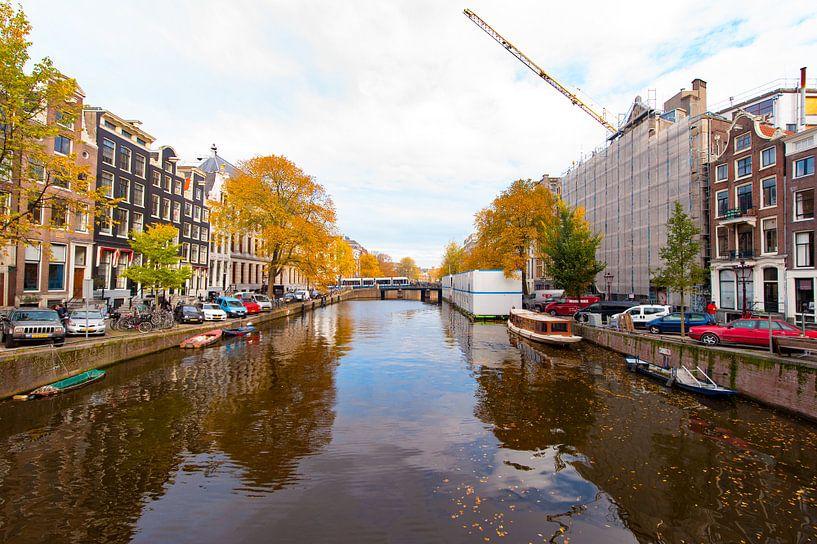 Autumn in Amsterdam van Brian Morgan