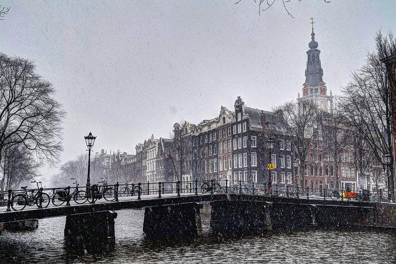Amsterdam Winter Kloveniersburgwal van Hendrik-Jan Kornelis