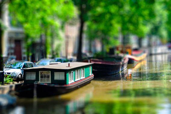 Prinsengracht Amsterdam Miniatuur van  Peter Oudenes