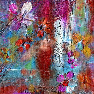 bloemenreis 3 van Claudia Gründler