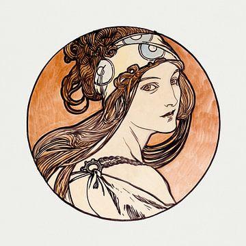 Dame, mit Kamelien, Sarah Bernhardt, Alphonse Mucha, (1898)