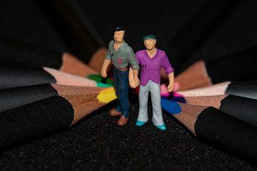 Hand in Hand zwischen den Farben von JM de Jong-Jansen