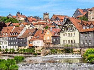 Stadspanorama van Kronach in Beieren van Animaflora PicsStock