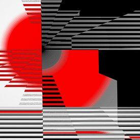 Zwart wit ontmoet rood versie 4 van Christine Bässler