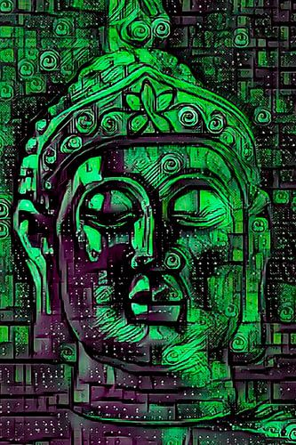 Buddha - the Joy in Green
