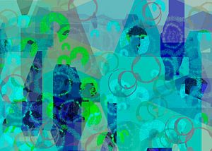 Abstrakt himmelblau