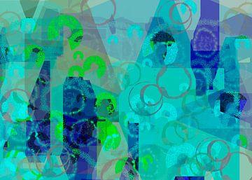 Abstrakt himmelblau sur