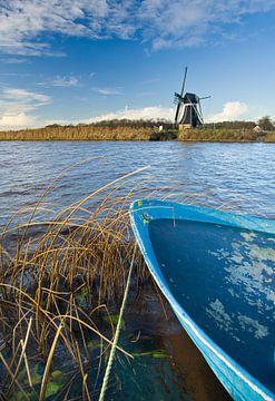 Windmühle, Mildam, Friesland, Niederlande von Peter Bolman