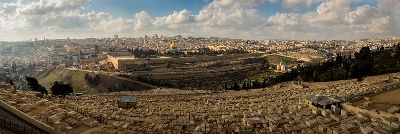 Panorama van Jeruzalem van Menno Alberts