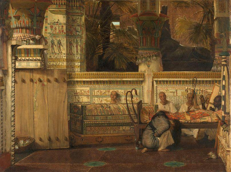 Die ägyptische Witwe Lourens Alma Tadema, 1872. von Marieke de Koning