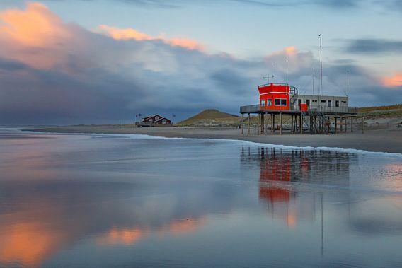 Strand Petten bij zonsondergang
