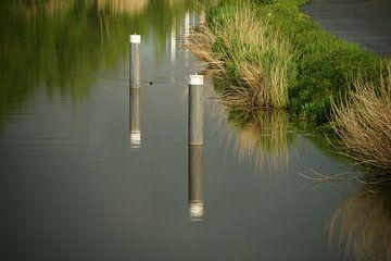 Meerpalen in de Oude IJssel van Jan Nuboer