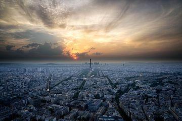 Parijs skyline van de Tour Montparnasse van Atelier Liesjes