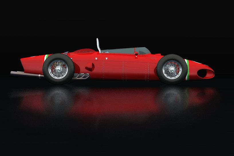 Ferrari 156 Shark Nose Zijaanzicht van Jan Keteleer