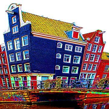 Colorful Amsterdam #110 van Theo van der Genugten