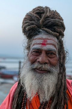 India: Sadhoe (Varanasi) von Maarten Verhees