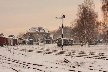 Treinstation Simpelveld in de sneeuw