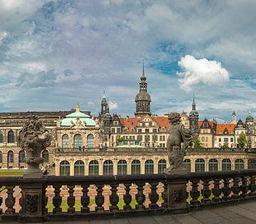 Het Zwinger met de Hofkirche, Dresden, Saksen, Duitsland, van Rene van der Meer