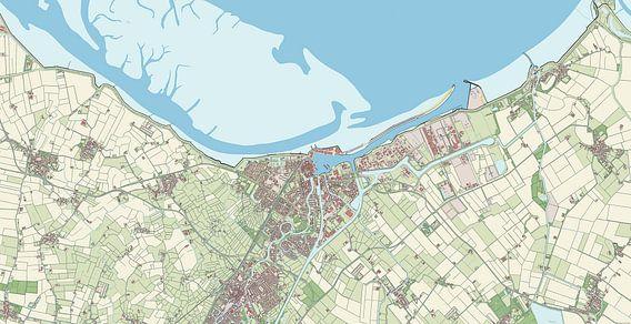 Kaart van Delfzijl van Rebel Ontwerp