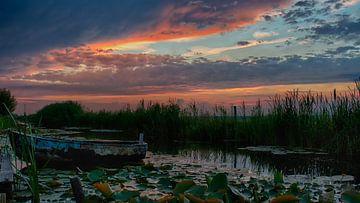 Bedrohlicher Himmel über Waddinxveen Graben von Annemiek van Eeden