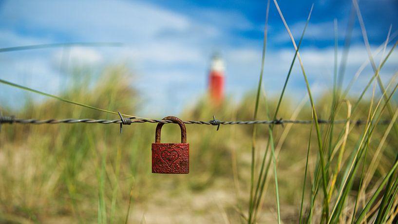 Liefde met een slotje op Texel van Sran Vld Fotografie