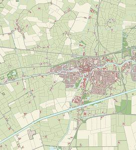 Kaart vanAppingedam van