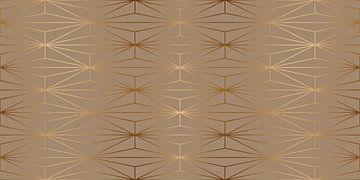ELEGANT GOLD DIAMOND PATTERN II van Pia Schneider