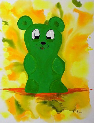 grüner Gummibärenbruder van Patricia Jaqueline
