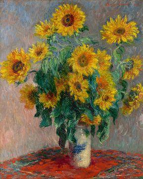 Bouquet de tournesols, Claude Monet sur