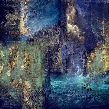 Blauwe fantasie van Carla van Zomeren