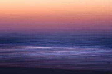 Nordseewellen Sonnenuntergang von Jop Hermans