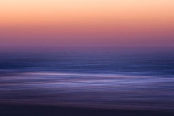Noordzee golven zonsondergang