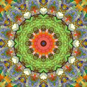 Mandala voorjaarskleuren blokken