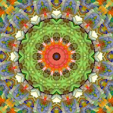 Blocs de couleurs de printemps Mandala sur Marion Tenbergen