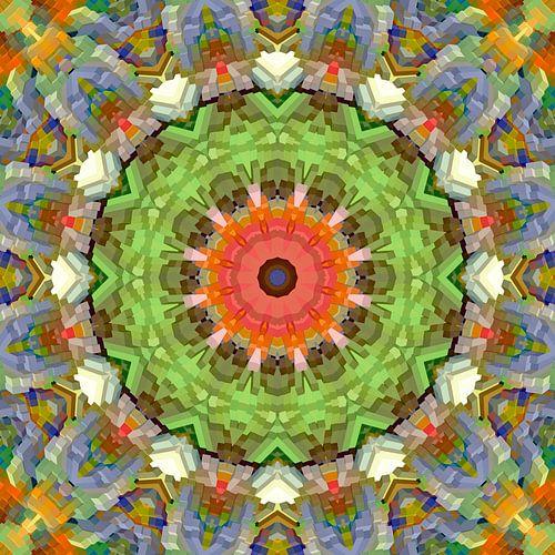 Mandala voorjaarskleuren blokken van