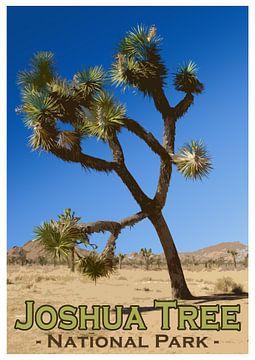 Vintage-Poster, Josua-Baum-Nationalpark, Kalifornien, Amerika von Discover Dutch Nature