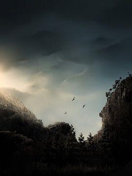 Wolkenstralen van DominixArt