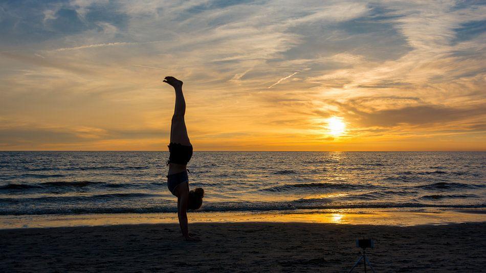 Sunset Callantsoog van Andre Sonderman